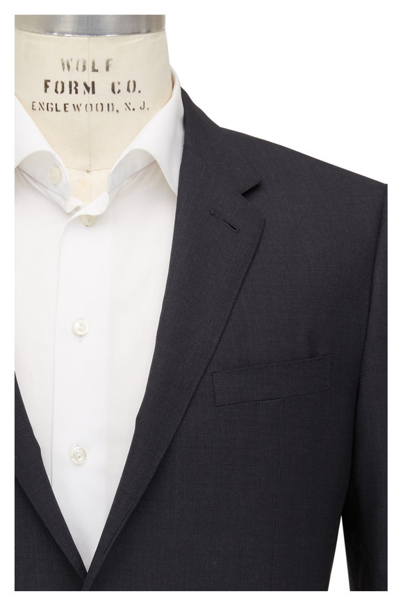 Ermenegildo Zegna Charcoal Gray Cool Effect Wool Suit