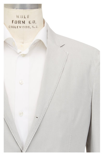 Z Zegna - Stone Washed Stretch Cotton Slim Fit Sportcoat