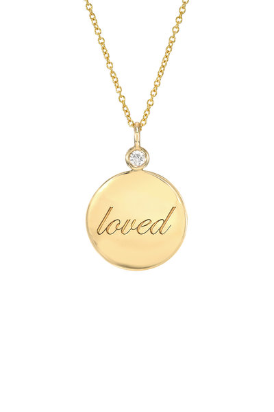 Dru - Yellow Gold Small Loved Medallion