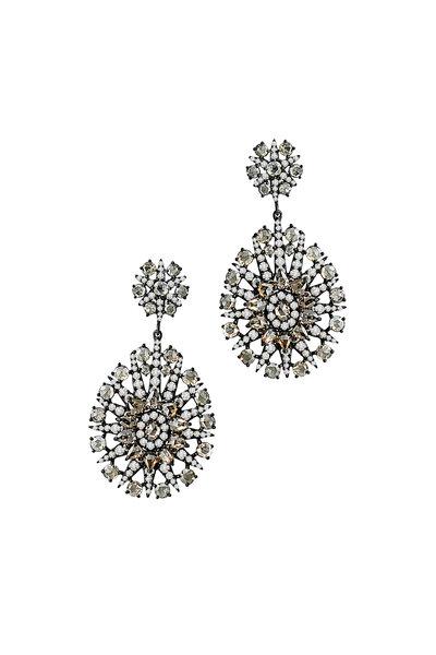 Sutra - White Gold Diamond Earrings