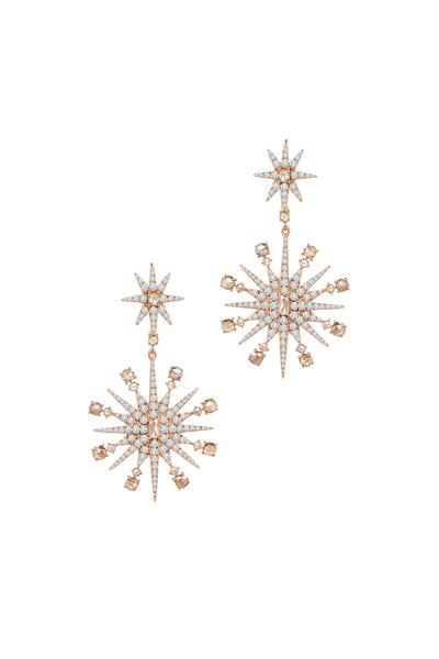 Sutra - Rose Gold Diamond Flake Earrings