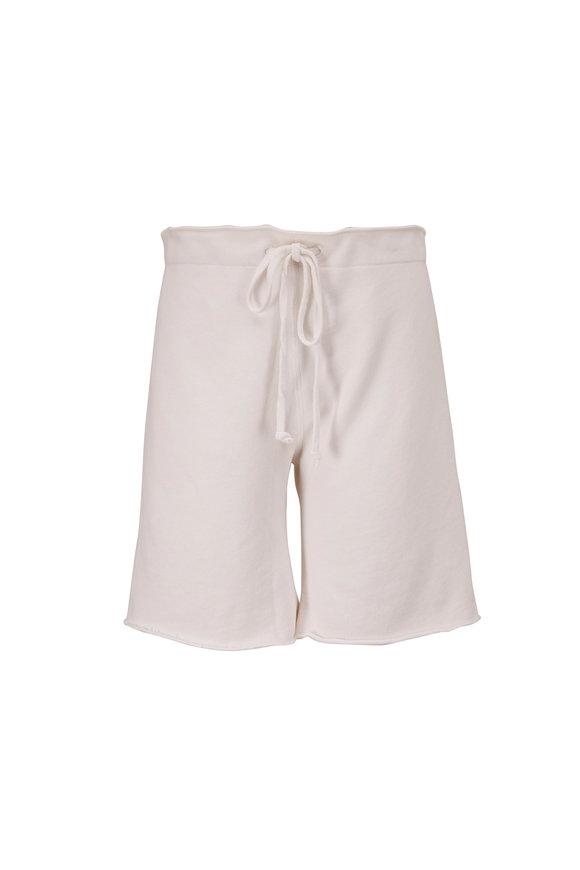 Nili Lotan Austin Chalk White French Terry Sweat Shorts