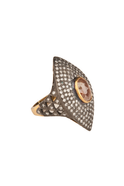 Loren Jewels - Gold & Silver Marquise-Cut Diamond Ring