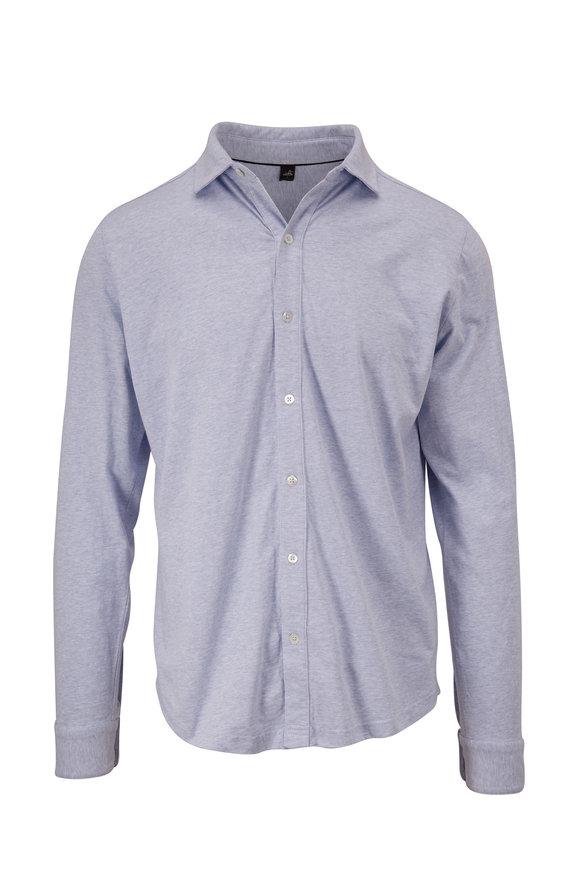 WAHTS Barton Light Blue Mélange Button Down Shirt