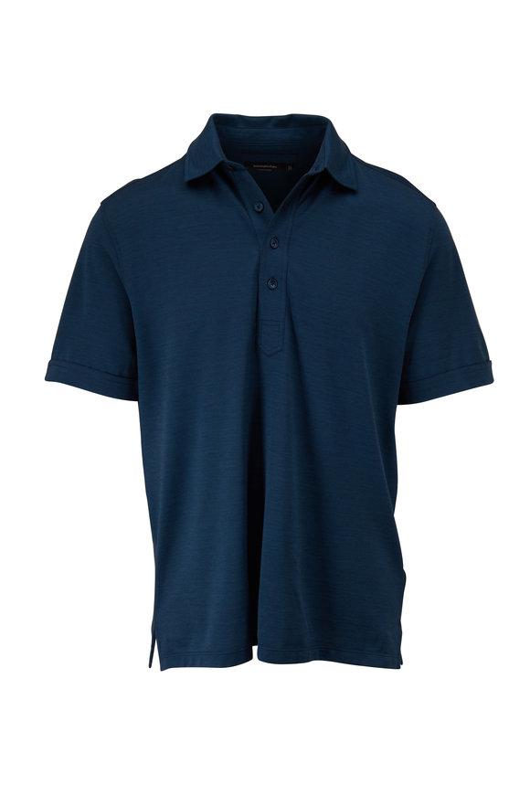 Ermenegildo Zegna Teal Short Sleeve Polo