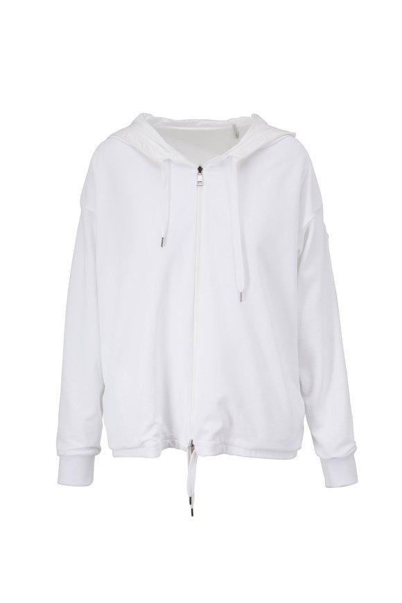 Moncler White Reversible Hooded Sweatshirt