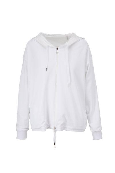 Moncler - White Reversible Hooded Sweatshirt