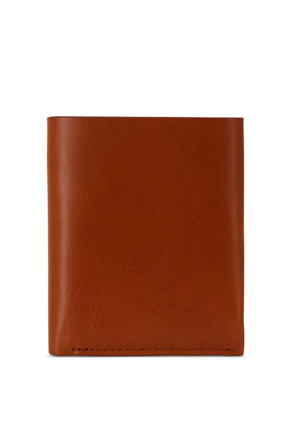 Shinola Utility Tan Leather Card Wallet