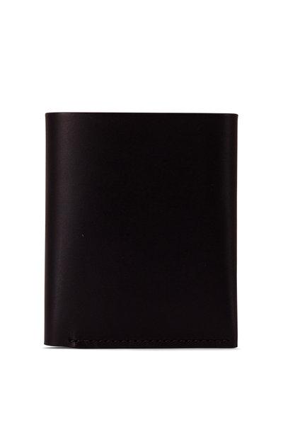 Shinola - Utility Black Leather Card Wallet