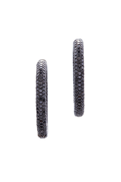 Cairo - 18K White Gold Black Diamond Earrings