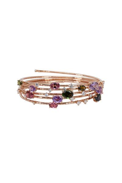 Mattia Cielo - 18K Rose Gold Rainbow Rugiada Coil Bracelet