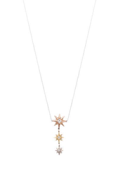 James Banks - Gold Triple Stars Necklace