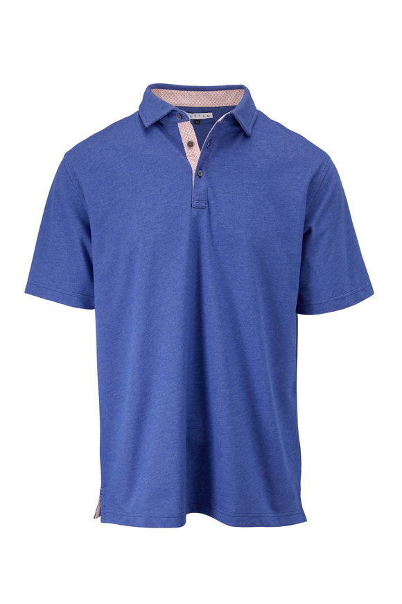 Vastrm Lapis Heather Short Sleeve Polo