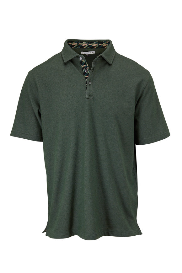 Vastrm Forest Heather Short Sleeve Polo