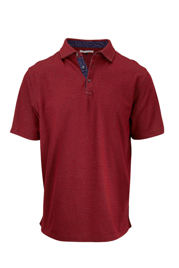 Vastrm Bordeaux Heather Short Sleeve Polo