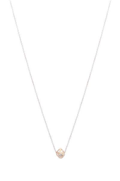 James Banks - Pink Gold Double Argyle Diamond Necklace