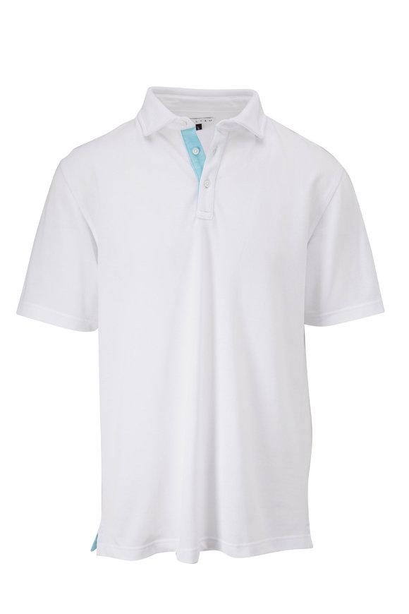 Vastrm White Oxford Piqué Short Sleeve Polo