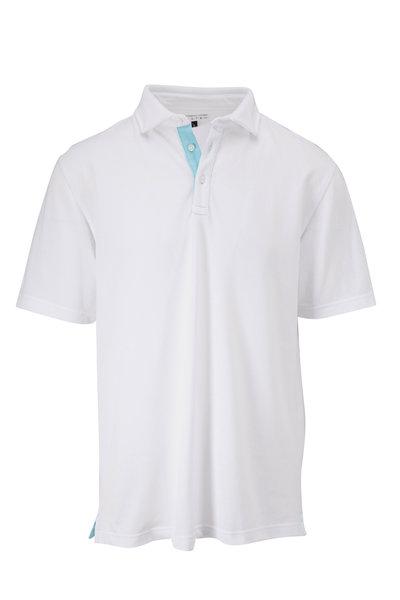 Vastrm - White Oxford Piqué Short Sleeve Polo