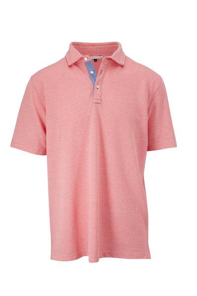 Vastrm - Peach Oxford Piqué Short Sleeve Polo
