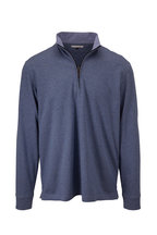 Vastrm - Blue Steel Tech Heather Quarter-Zip Pullover