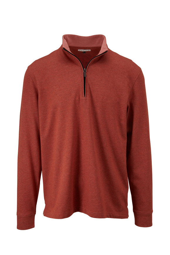 Vastrm Burnt Orange Tech Heather Quarter-Zip Pullover