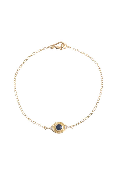 Jamie Wolf - Sapphire Evil Eye Diamond Gold Bracelet