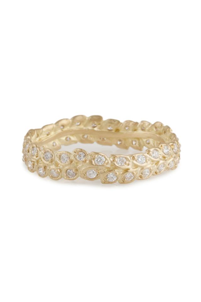 Gold Vine Diamond Ring
