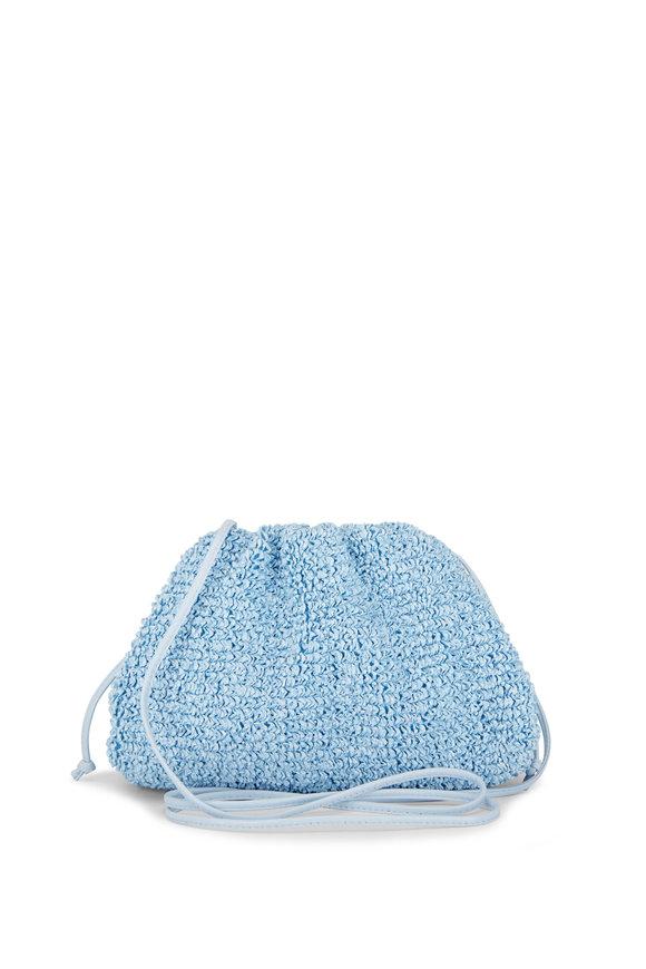 Bottega Veneta The Pouch Bubble Curly Raffia Small Crossbody Bag