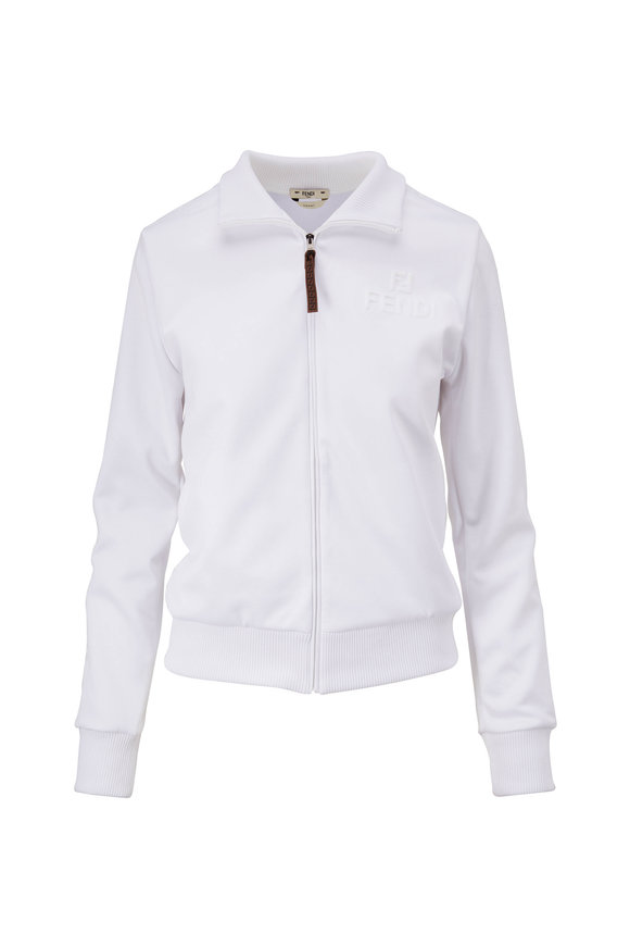 Fendi White Track Jacket & Pant Set