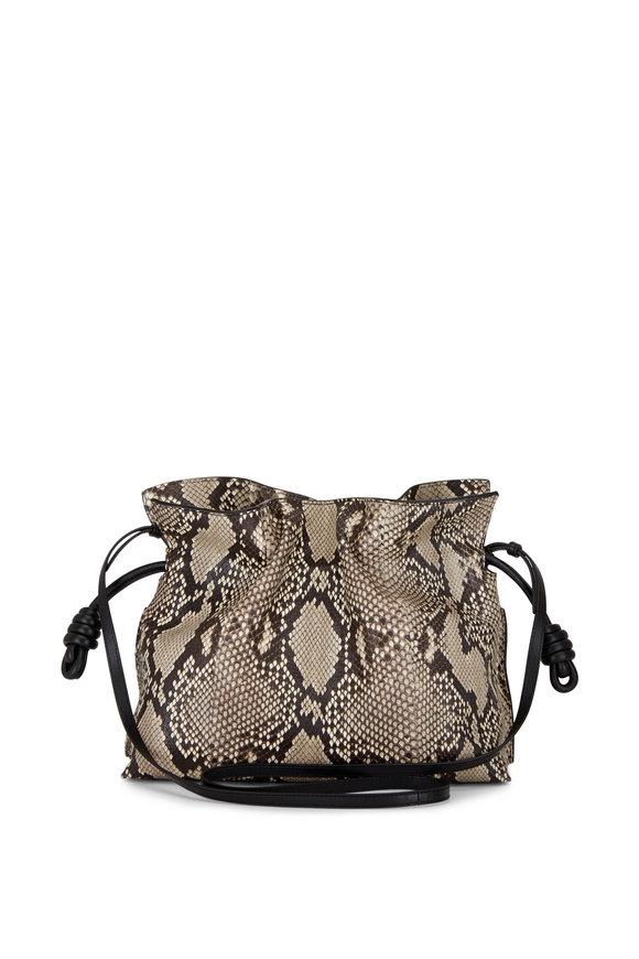 Loewe Flamenco Natural Python Knot Bag