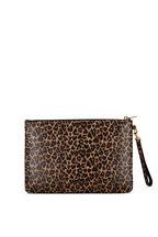 Saint Laurent - Leopard Heart Leather iPad Pouch