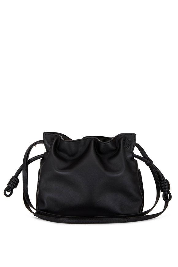 Loewe Flamenco Black Leather Mini Knot Bag