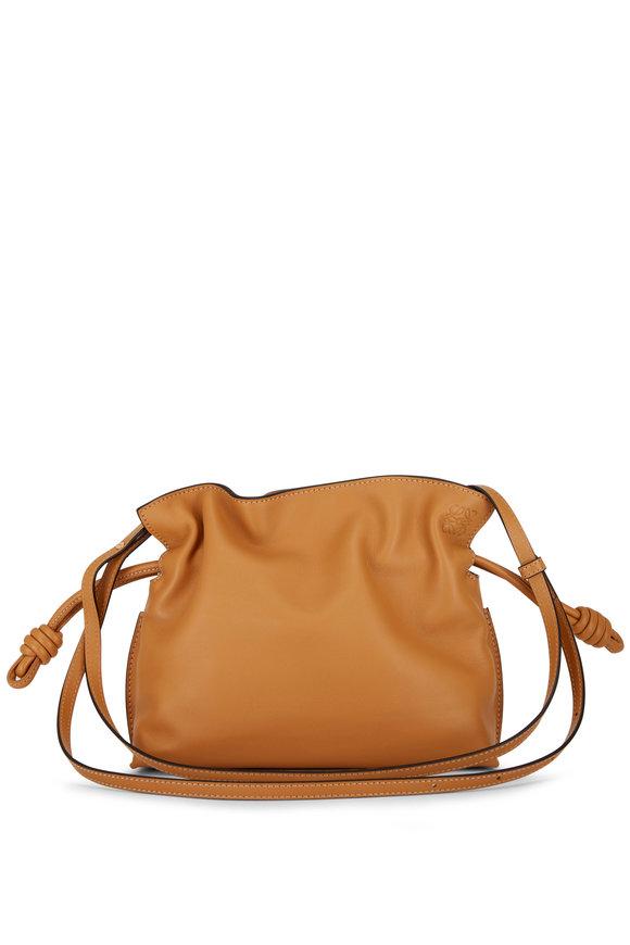 Loewe Flamenco Warm Desert Leather Mini Knot Bag