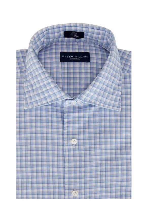 Peter Millar Blue Mist Castello Check Sport Shirt
