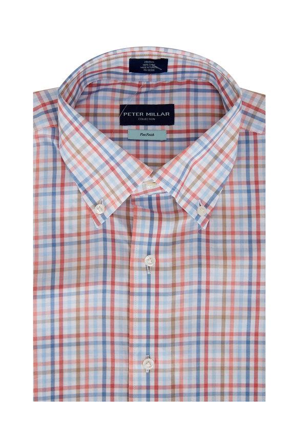 Peter Millar Cliffside Villa Sunrise Check Sport Shirt