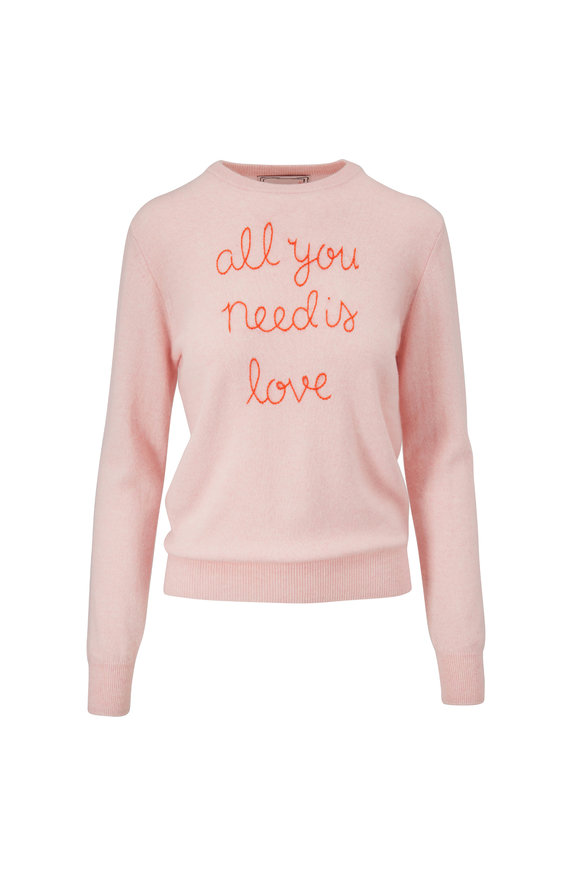 Lingua Franca Peony & Poppy All You Need Is Love Sweater
