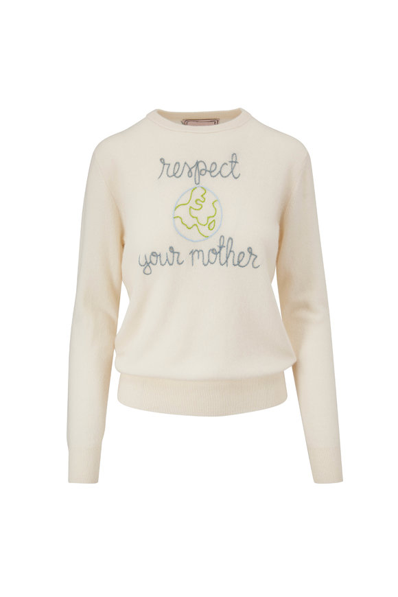 Lingua Franca Cream & Earth Respect Your Mother Sweater