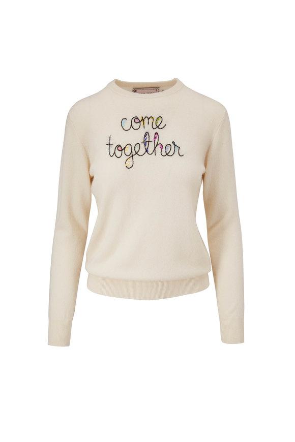 Lingua Franca Cream & Black Come Together Sweater