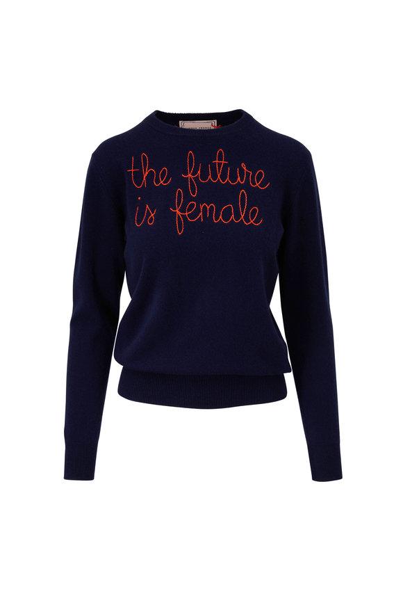 Lingua Franca Navy & Poppy The Future Is Female Sweater