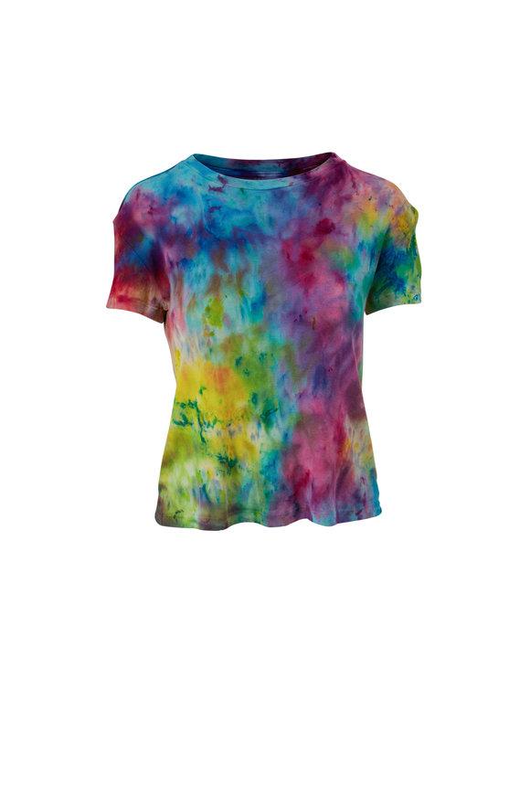 The Elder Statesman Rainbow Cotton & Cashmere T-Shirt