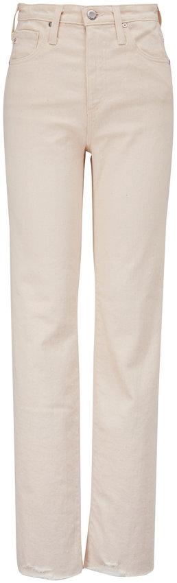 AG Alexxis Ecru High-Rise Vintage Straight Jean