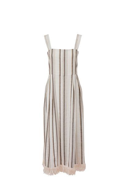 Antonelli - Lucrezia Striped Fringe Hem Sleeveless Dress