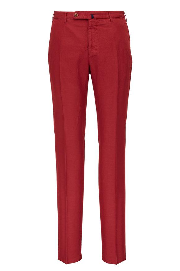 Incotex Red Chinolino Regular Fit Pant