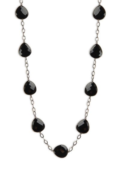 Loriann - Sterling Silver Black Spinel Chain Necklace