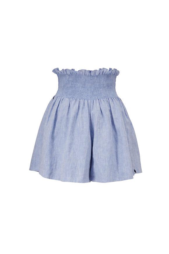 Sachin + Babi Vivi Light Blue Linen Shorts