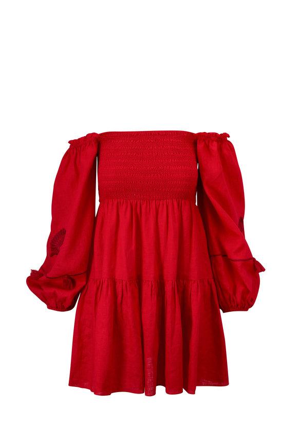 Sachin + Babi Lola Red Off-The-Shoulder Dress