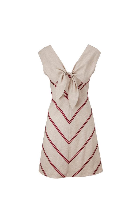 Sachin + Babi Poppy White & Red Stripe Sleeveless Dress
