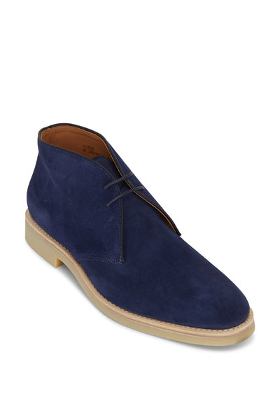 Heschung - Murier Velours Blu Suede Lace Up Boot