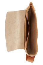 Chloé - Kiss Sandy Beige Leather Hobo Bag