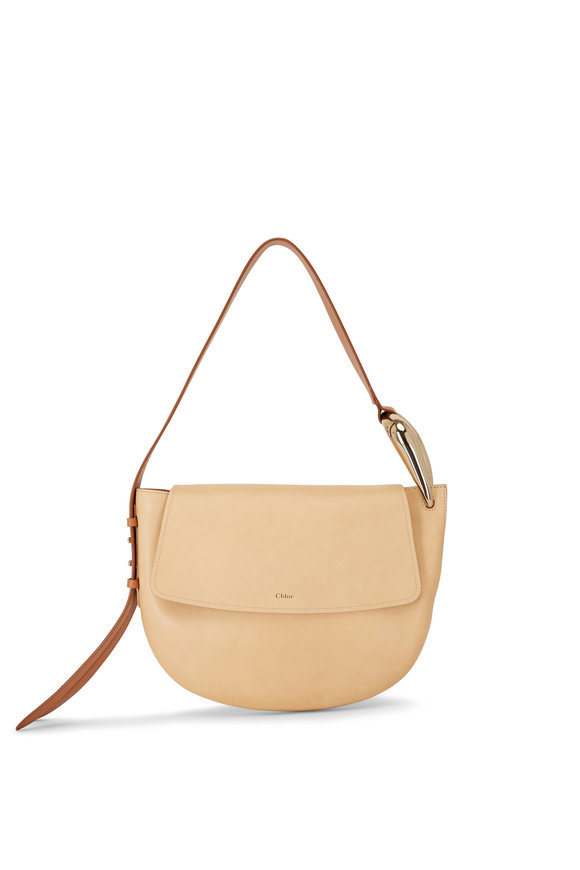 Chloé Kiss Sandy Beige Leather Hobo Bag